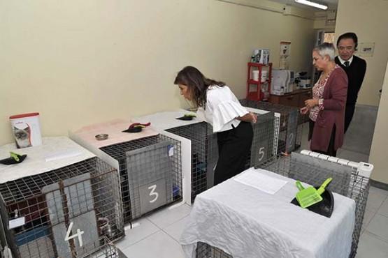 Beatriz Mato na visita ás instalacións de Gatocán en Coirós. Foto: M. Fuentes