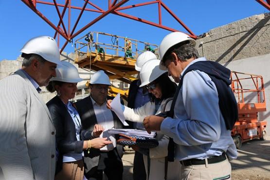 Cores Tourís na visita ás obras en Moraña