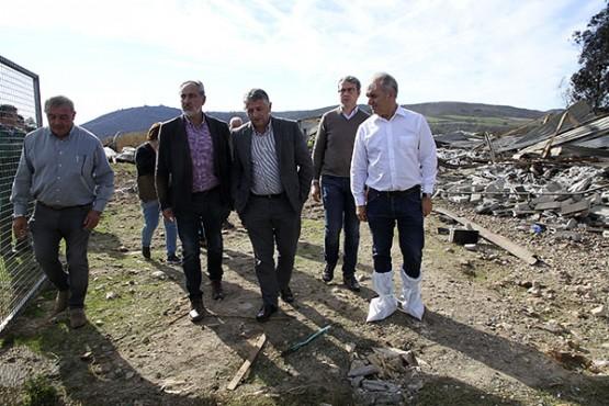 Cores Tourís na visita á zona afectada en Silleda