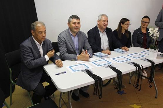 Ovidio Rodeiro na visita ao CEIP Recimil de Ferrol
