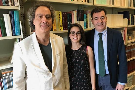 O conselleiro de Educación visita o lectorado de galego na Universidade de Roma