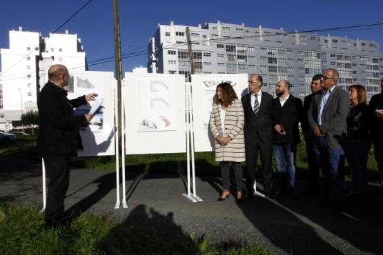 Almuiña na presentación do proxecto do centro de saúde