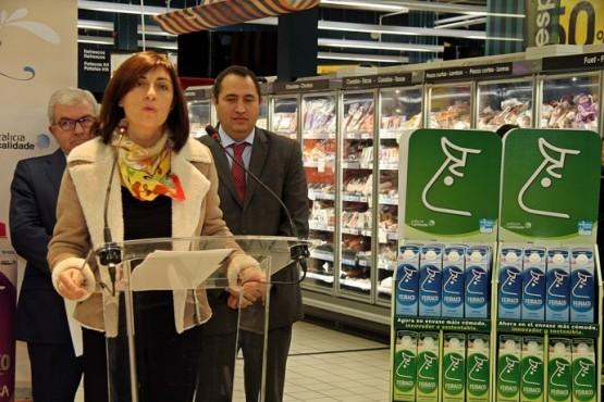 Ángeles Vázquez na presentación da campaña en Noia