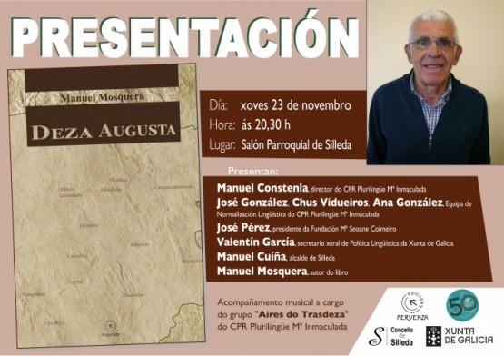 """Manuel Mosquera presenta en Silleda o seu primeiro libro """"Deza Augusta"""""""
