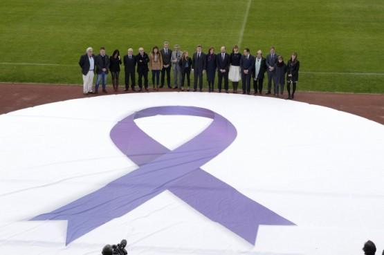 O presidente da Xunta no acto para a defendsa da igualdade no fútbol