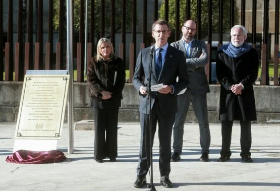 O presidente Feijóo na homenaxe a Miguel Ángel Blanco