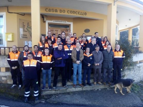 A Xunta participa nos actos do Día do Voluntariado cos membros de Protección Civil en Cervantes