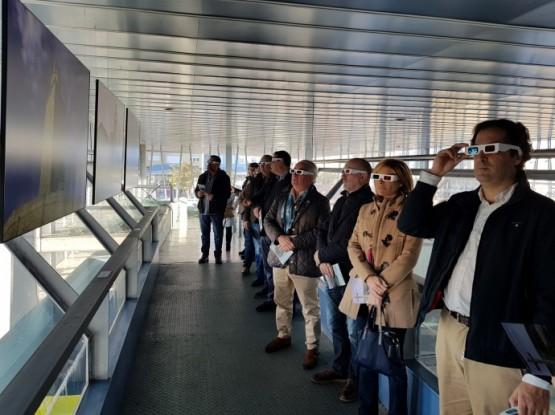 """Nava Castro na visita á exposición """"De mar a mar"""""""