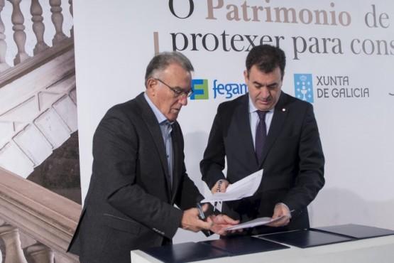 Xunta e Fegamp asinan un protocolo para a habilitación no eido do patrimonio cultural dos concellos galegos