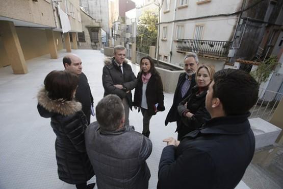 Alfonso Rueda xunto á alcaldesa de Marín