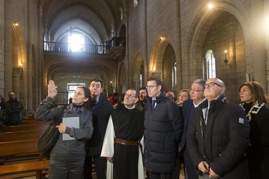 Visita do presidente da Xunta ao Mosteiro de Oseira