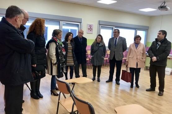 José Manuel Balseiro na visita ao CEIP Lagostelle de Guitiriz