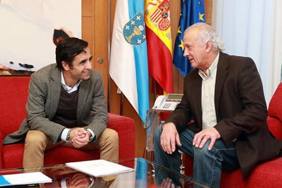 Rey Varela na reunión co alcalde da Peroxa