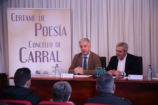 Valentín García na presentación do premio