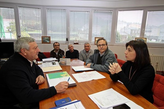 Ángeles Vázquez na visita a Trazo