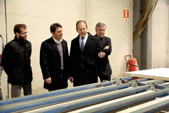 Juan Cividanes na visita a Lalín