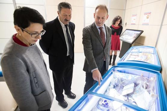 Juan Cividanes na visita ás instalacións de Congalsa