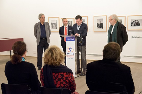 Román Rodríguez na inauguración da exposición