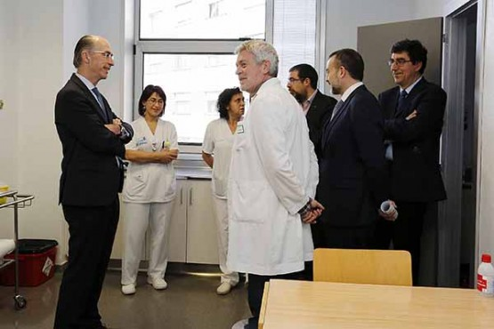 Visita do conselleiro de Sanidade ao centro