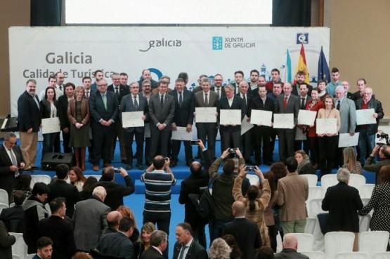 O presidente galego na entrega dos recoñecementos