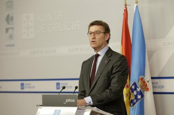 O presidente galego en rolda de prensa