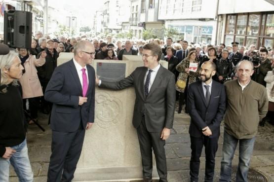 O presidente galego no acto do 850 aniversario