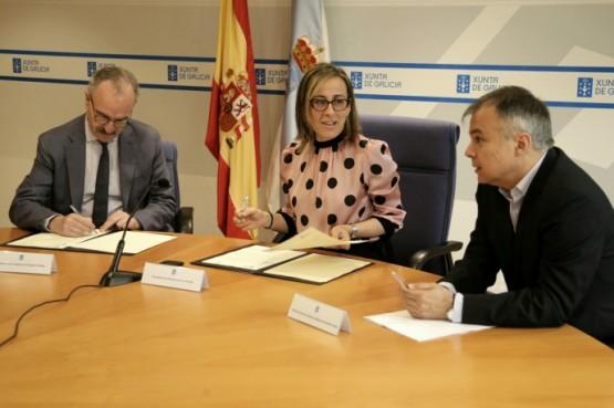 Sinatura do convenio entre a Xunta e o Consello da Avogacía Galega