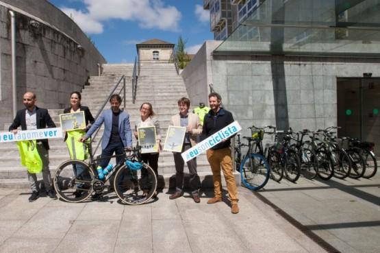 A Xunta lanza a campaña 'Metro e medio' para fomentar a convivencia e salvagardar a seguridade dos ciclistas