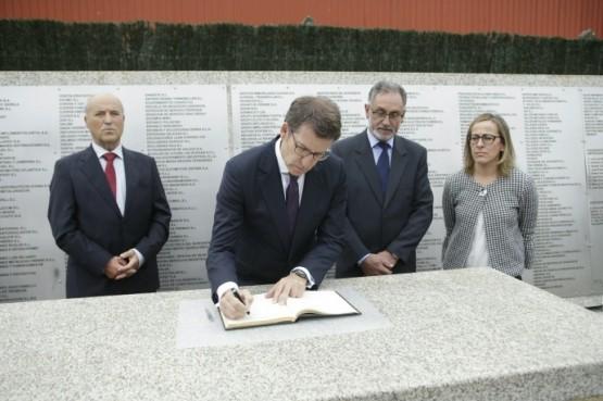O presidente galego no anuncio das obras