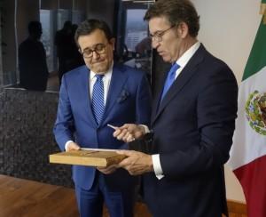 Feijóo valora o interese do goberno mexicano por participar nunhas xornadas para intensificar o investimento entre México e Galicia