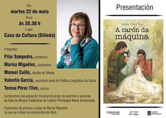 """Teresa Pérez Tilve presenta en Silleda  a súa primeira obra narrativa,  """"A carón da máquina"""""""