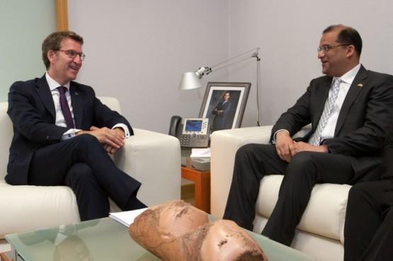 O presidente galego recibe ao embaixador de República Dominicana en España