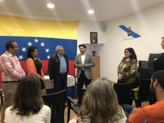 A Secretaría Xeral da Emigración renova o seu compromiso cos galegos retornados na súa visita á oficina de Federación de Venezolanos en Galicia en Vigo