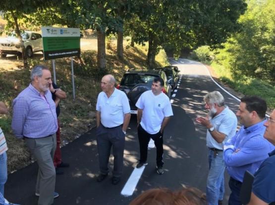Cores Tourís visita as actuacións executadas dentro do Plan marco no concello de Cuntis