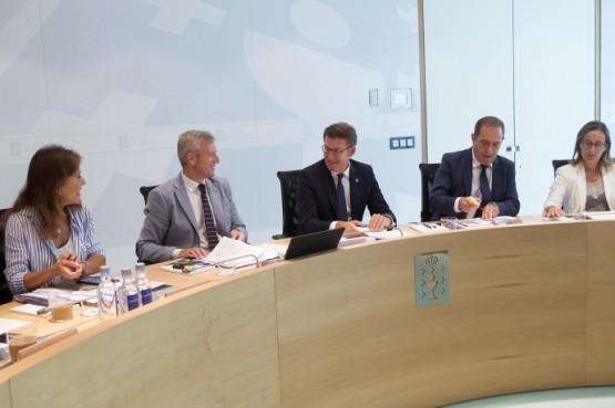 O presidente galego na reunión do Consello da Xunta