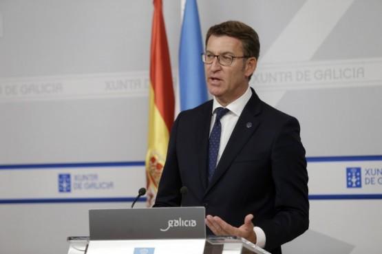 O presidente da Xunta na rolda de prensa