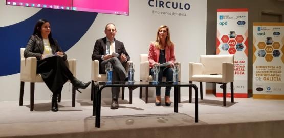Juan Cividanes na presentación do encontro empresarial