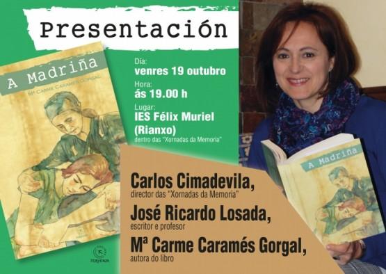 """Mª Carme Caramés Gorgal presenta en Rianxo a súa novela """"A Madriña"""""""