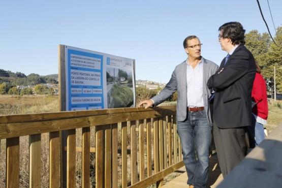 Ignacio López-Chaves na visita ao remate das obras