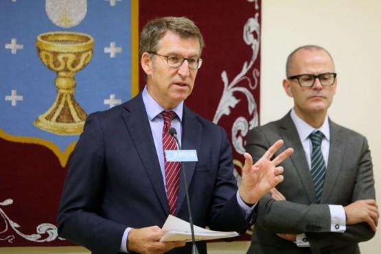 Feijóo reúnese co alcalde de Ourense