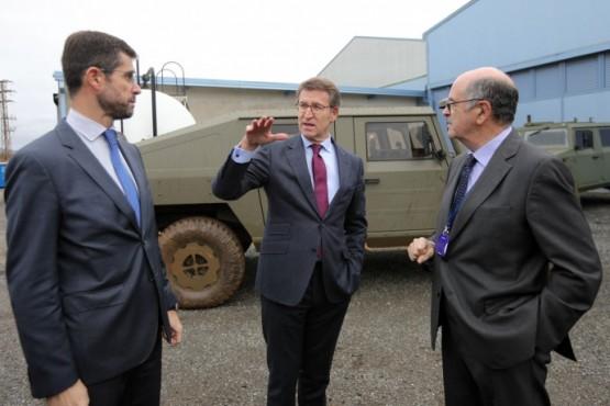 O presidente galego na visita ás instalacións de Urovesa