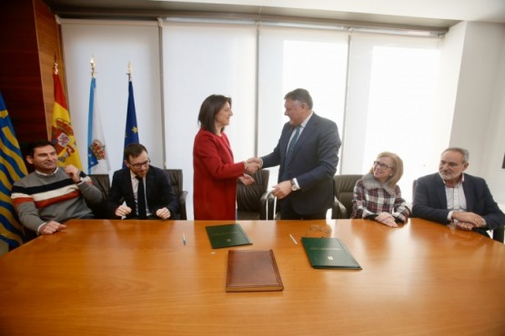 A Consellería de Medio Ambiente, Territorio e Vivenda en Sanxenxo
