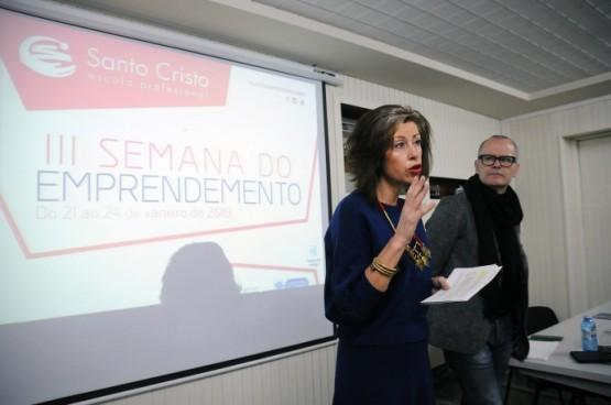 Marisol Díaz na inauguración da III Semana do Emprendemento