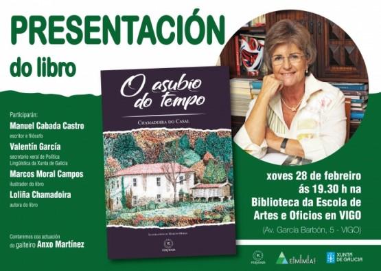 """Chamadoira do Casal presenta en Vigo  o libro """"O asubío do tempo"""""""