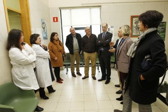Almuiña visita as obras de construción do novo centro de saúde de Narón, nas que a Xunta inviste 5M€