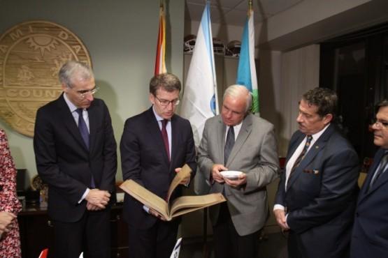 Feijóo na reunión co alcalde do Condado de Miami-Dade