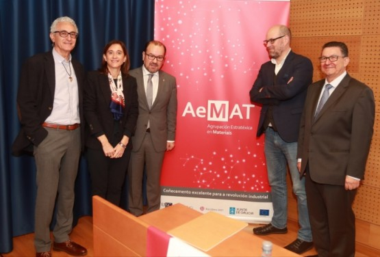 Carmen Pomar na presentación da agrupación estratéxica AEMAT