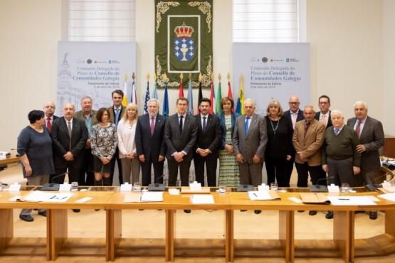 O presidente galego na xuntanza