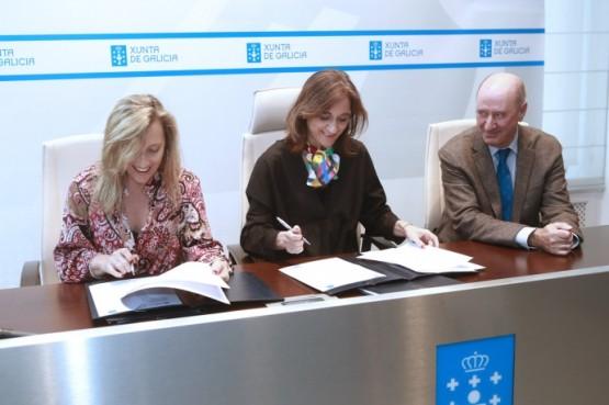 Sinatura do convenio entre a consellería de Educación e UNICEF