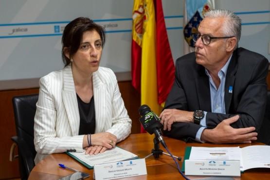 Ángeles Vázquez na rolda de prensa